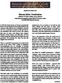 Sharon Isbin: Troubadour, American Record Guide, September/October 2015