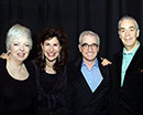 With Thelma Schoonmaker, Martin Scorsese and Howard Shore. Photo by David Fox.