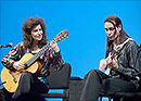 Sharon Isbin performing with Steve Vai, Paris 2005