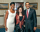 Sharon Isbin celebrates with President Obama & First Lady Michelle Obama at the White House following her performance, November 4, 2009