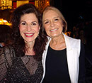 Sharon with Gloria Steinem