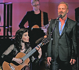 Sharon & Sting at Carnegie Hall