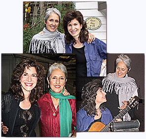 Pictures of Sharon with Joan Baez