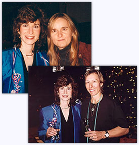 Sharon with Martina Navratilova and Melissa Etheridge