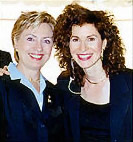 With Hillary Clinton on September 11, 2002, Ground Zero, New York