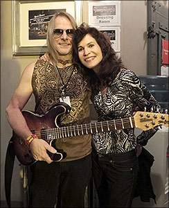 Sharon with Steve Morse