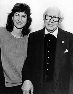 Sharon with Andres Segovia, New York City, 1987