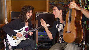 Sharon with Steve Vai