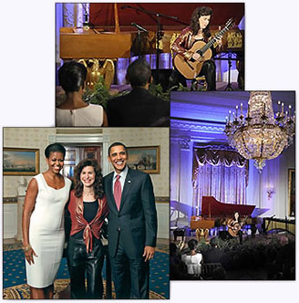 Sharon Isbin's performance in the East Room at the White House Evening of Classical Music on November 4, 2009
