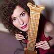 Sharon Isbin with Soloette Guitar, Photo by Horace Long